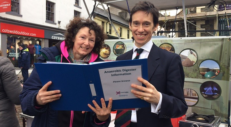 Rory Stewart MP learns about Micro Anaerobic Digestion potential for Threlkeld